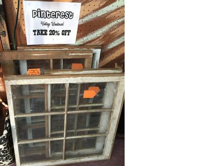 Vintage Wooden Glass Pane Windows